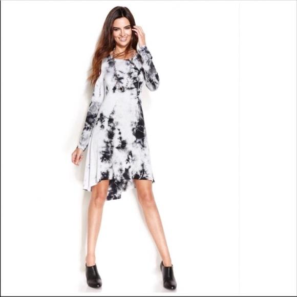 0849e918771 Karen Kane Dresses   Skirts - Karen Kane Tie-Dye High-Low Long Sleeve